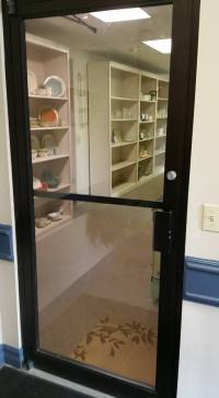Commercial entry door.