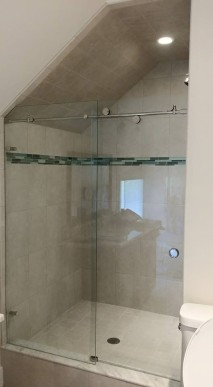 """Skyline"" sliding shower enclosure."