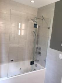 Panel & door installed on a bathtub.