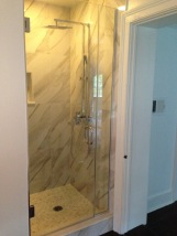 "Door and panel with 3/8"" clear glass."